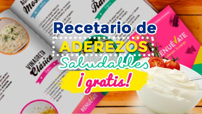 Recetario de aderezos saludables ¡GRATIS!