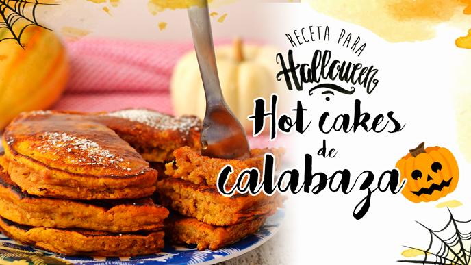 Receta para Halloween: Hot cakes de calabaza